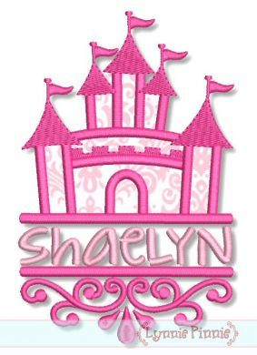 Embroidery Designs - Swirly Split Castle Applique 4x4 5x7 6x10 SVG - Welcome to Lynnie Pinnie.com! Instant download and free applique machine embroidery designs in PES, HUS, JEF, DST, EXP, VIP, XXX AND ART formats.