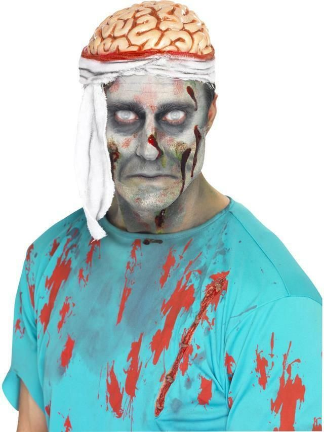 Adult Bloody Zombie Brain Hat Head Headpiece Hat Halloween Fancy Dress Accessory