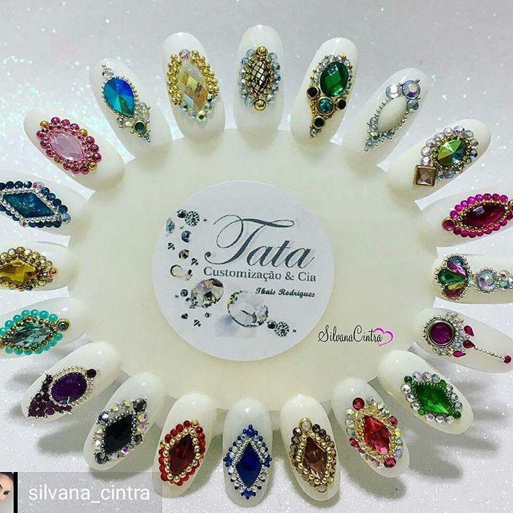@Regrann from @silvana_cintra - . www.tatacustomizaçãoecia.com.br . Prontinho meninas, mais um mostruário para vcs de @tata_customizacao_e_cia!!!!  . E lembrando q todas essas pedras magníficas vcs entram no site!!!!! ❤ . . #tatacustomizacao #joiasdeunhas #joiasluxo #pedrarias #mtoamorenvolvido #inlove - #regrann