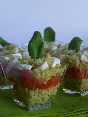 cous-cous with pesto - add chicken and zucchini