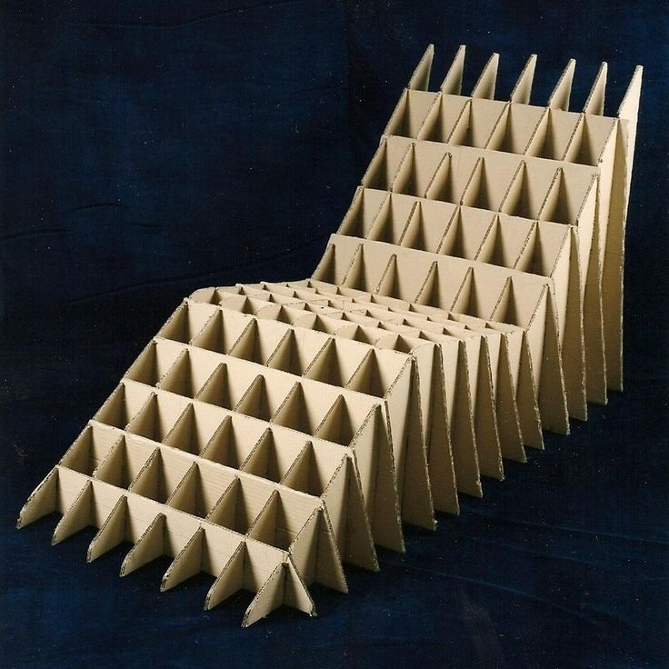 Chaise long made from cardboard