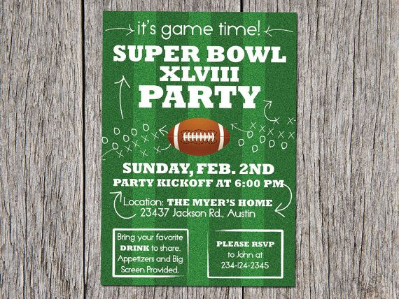 super bowl invitation template