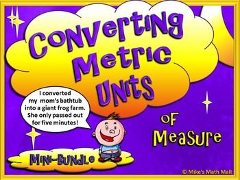 Check out this interesting mini-bundle that covers converting basic Metric Units of Measure. Included in this bundled unit:PowerPoint The very engaging, interactive, and easy-to-understand 17-slide PowerPoint will walk learners through:-Basic Metric terminology-Why we convert units-Converting Metric Units for: Length, Capacity, and Mass(Using the metric conversion ladder  kids love the ease of this)The PowerPoint includes multiple examples and interactive, embedded practice problems for…