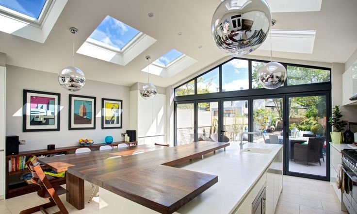 convert kitchen extension roof - Google Search