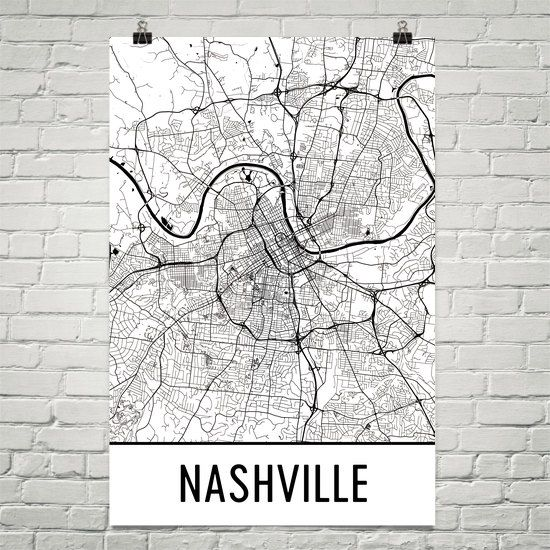 Nashville Art, Nashville Print, Nashville Map, Nashville Wall Art, Nashville TN, Map of Nashville, Gift, Birthday, Decor, Modern, Art