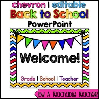 Back to School Night PowerPoint {Editable} | by A Teachable Teacher