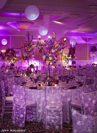 Amazing setup at this #purple #uplighting #wedding #reception! #diy #diywedding #weddingideas #weddinginspiration #ideas #inspiration #rentmywedding #celebration #weddingreception #party #weddingplanner #event #planning #dreamwedding by @kolodnyphoto