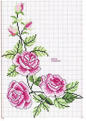 Cross Stitch Pattern Roses  Gallery.ru / Фото #1 - ROSES 1 - aaadelayda