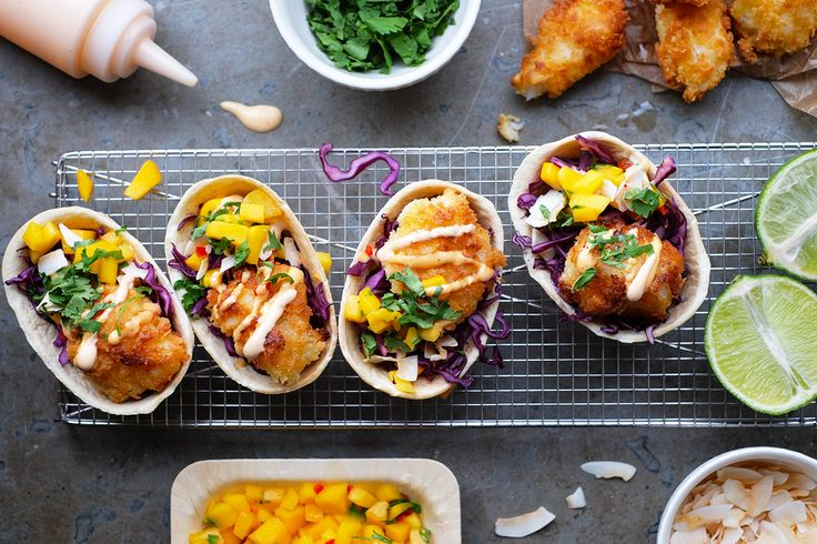 Fish tacos with sides. Work for Old el Paso, 2016. Recipes, food styling & photography: Louise Ljung