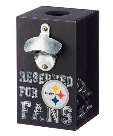 Love this Pittsburgh Steelers Bottle Opener Cap Caddy on #zulily! #zulilyfinds