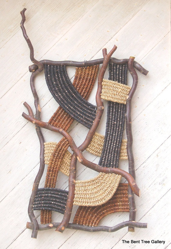 Natural Wave Contemporary Woven Wall Sculpture OOAK TheBentTreeGallery