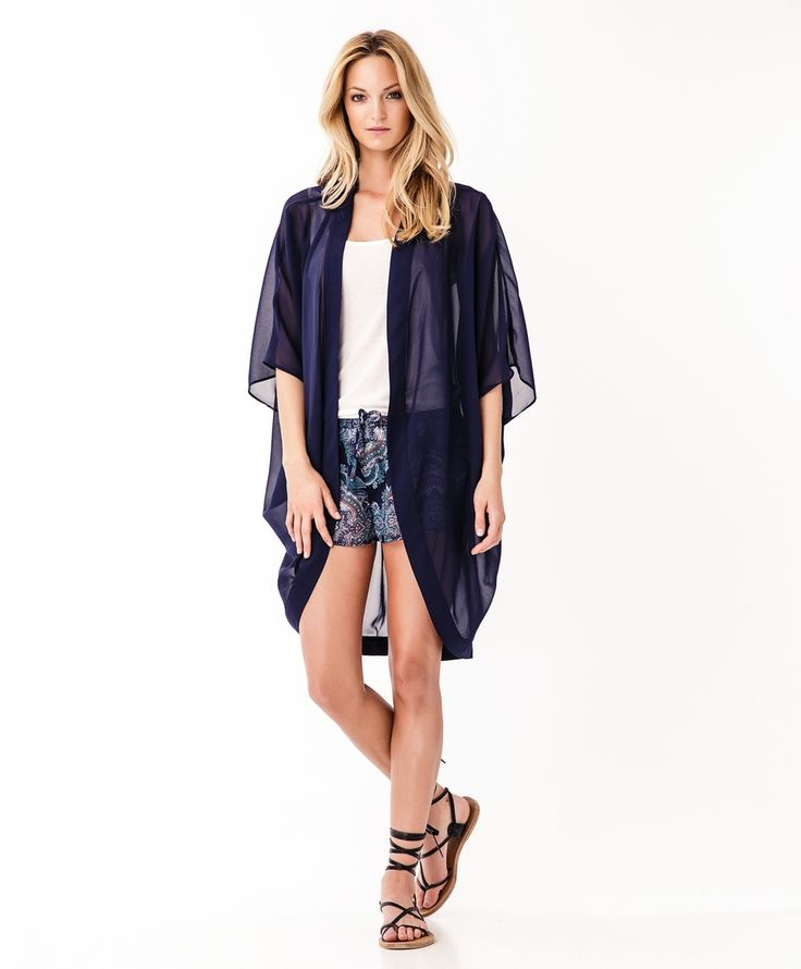 Kimono matched with printed chiffon shorts  | Gina Tricot New Arrivals | www.ginatricot.com | #ginatricot
