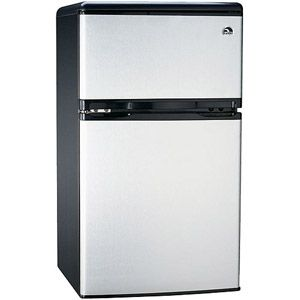 Igloo 3.2 cu. ft. 2-Door Refrigerator and Freezer, Stainless Steel. $159.00 on rollback from $299.00