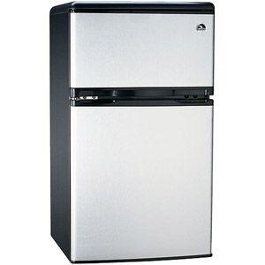 Igloo 3.2 cu. ft. 2-Door Refrigerator and Freezer, Stainless Steel