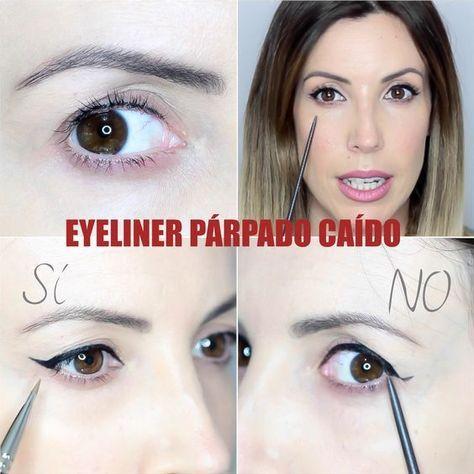 En este video os muestro la técnica para poder hacer un eyeliner con rabillo o cat eyeliner para un ojo con párpado encapotado o párpado...