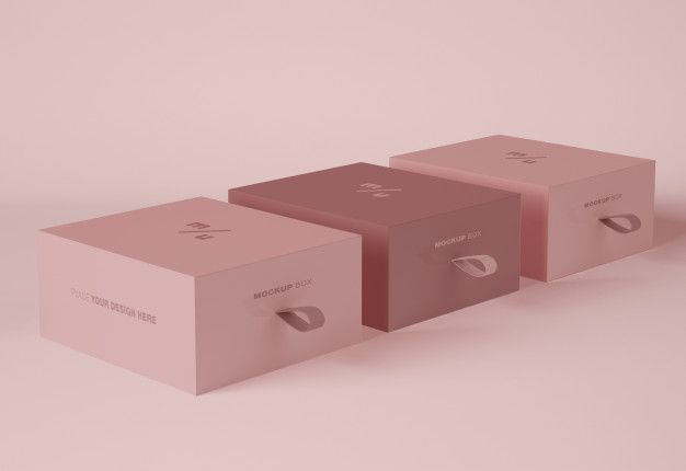 Download Three Boxes Packaging Mockup Luxury Box Packaging Packaging Mockup Box Packaging Design