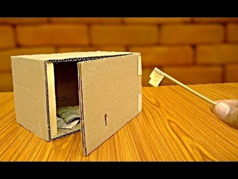 How to make a safe key Locker with cardboard -safe box - TRICKNEW - YouTube