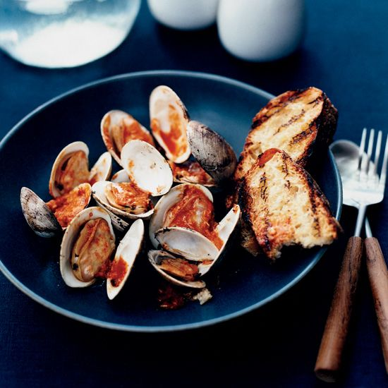Pop-Open Clams with Horseradish-Tabasco Sauce // More Great Grilled Seafood: http://www.foodandwine.com/slideshows/grilled-seafood #foodandwine