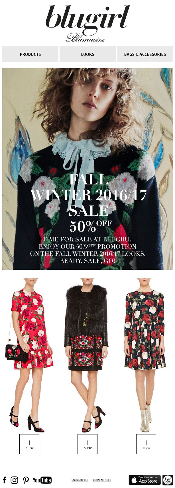 Blugirl Fall Winter Sales • 50% off on the Fall Winter 2016/2017 Collections