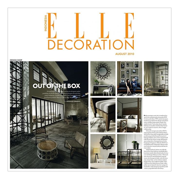 BOX LIVING | ELLE indonesia magazine in august 2010 - For more detailed information please visit our website www.boxliving.com.sg