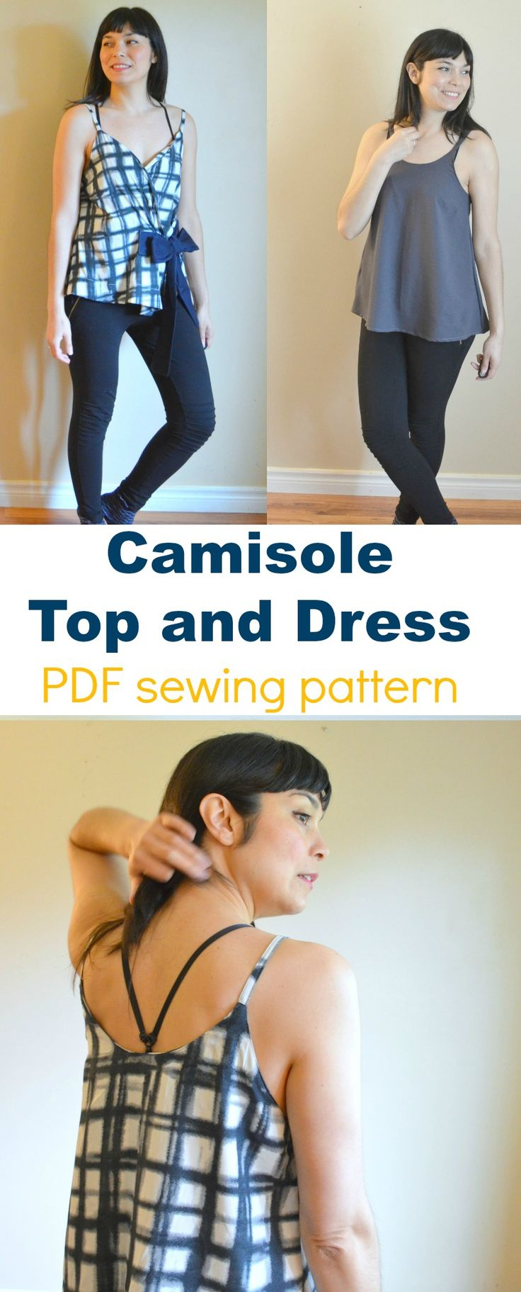 Introducing the Camisole Top and Dress PDF sewing pattern: Get access to this unique PDF sewing pattern and step by step sewing tutorial