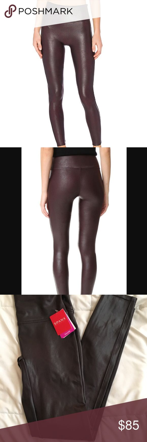new SPANX faux leggings in wine Never worn Spanx leggings in wine. perfect for the holidays. SPANX Pants Leggings
