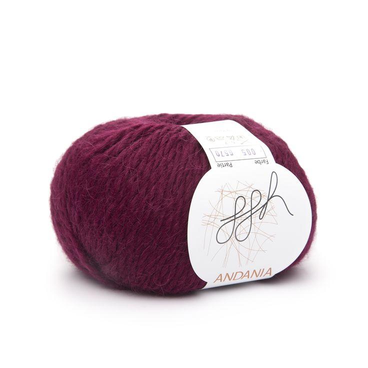 Superfeines Alpaka Ggh ANDANIA, Farbe Aubergine, Ist Ein Alpaka Für Die  Nadelstärke 6u20137. Das Garn Ist Einfach Pflicht Für Die Herbst/Winter Mode.