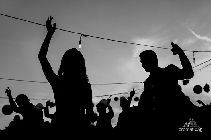 wedding party silhouettes