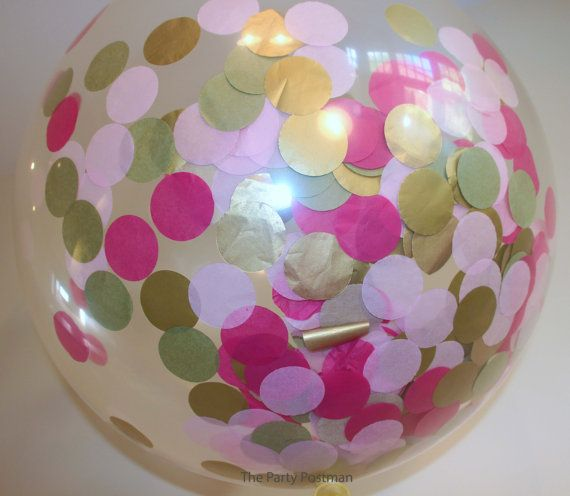 Youve seen these all over Pinterest! Now its your chance to actually get your hands on these spectacular balloons! We can fill a balloon with different colours to suit your event! If you dont see your choice in the drop down, please purchase the Custom balloons and contact us and we should be able to accommodate. The Balloon will come prefilled with your chosen confetti colours so all you will need to do is get it inflated locally. The Balloon when full size is 36 and clear so you can see…