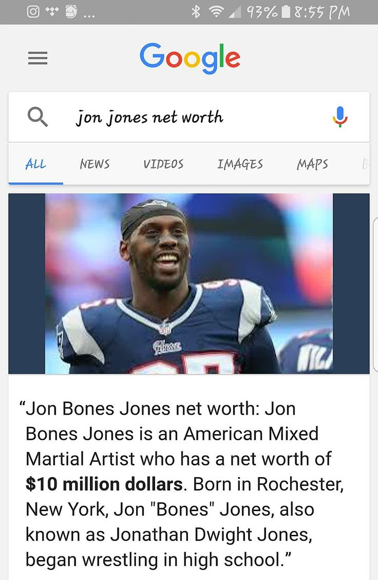 Google need to get it together! I googled Jon Jones net worth and this is what I got.🤔 NOT #JonJones, it's his younger brother Chandler Jones. #Google #GoogleAintLoyal 😂🙊👀🤣