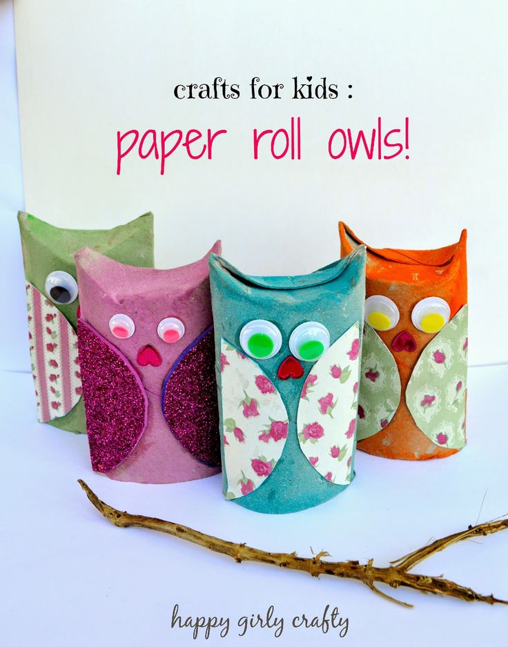 Crafting with my daughter : Paper roll owls! / Φτιάξαμε κουκουβάγιες απο ρολλό χαρτιού