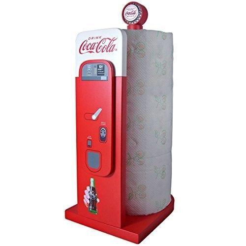 Coca-Cola-Vending-Retro-Machine-Home-Kitchen-Collectible-Paper-Towel-Holder