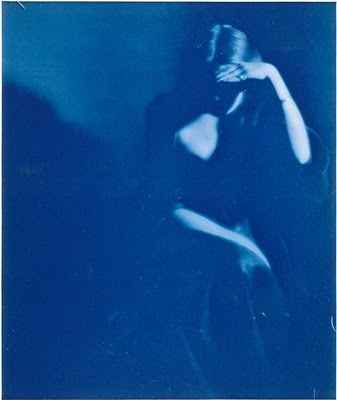 Young woman sitting (Florence Peterson) - Cyanotype