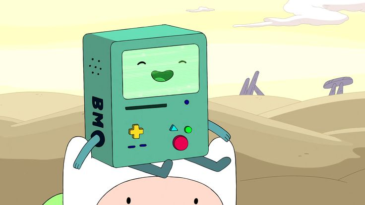 This is BMO, a character on the cartoon Adventure Time by Pendleton Ward. BMO is a cube with cylindrical limbs and an iconic face. He also features circular and rounded rectangular buttons and slots. The fact that BMO is made up of very simple shapes matches well with his happy, carefree personality on the show. But, its kind of interesting to me that although his design is very simple, it kind of contrasts with the very complex and technical tasks that BMO can perform.
