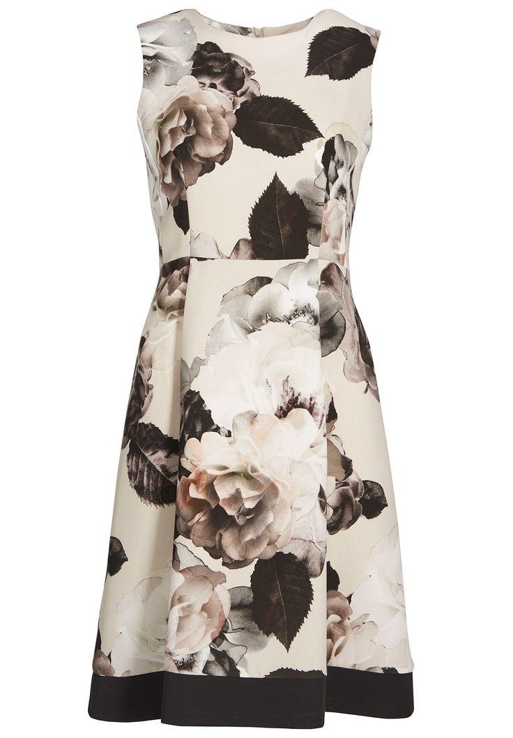 """Taufe, Kommunion, Hochzeit oder ein anderer Anlass? Mit diesem kurzen Kleid in der Farbe Puder-Multicolor ist """"frau"""" auf jeder Veranstaltung ein gern gesehener Gast. Das elegante Kleid ist mit einem aufwendigen Blumenprint bedruckt. Die..."""