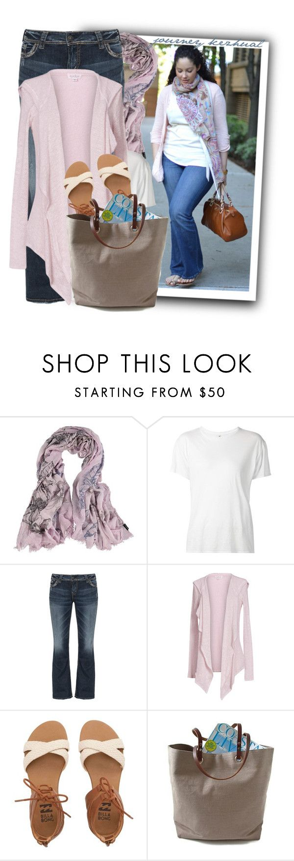 """Fraas Modal Scarf for Women"" by tasha1973 ❤ liked on Polyvore featuring Fraas, R13, Silver Jeans Co., Velvet by Graham & Spencer, Billabong and Independent Reign"