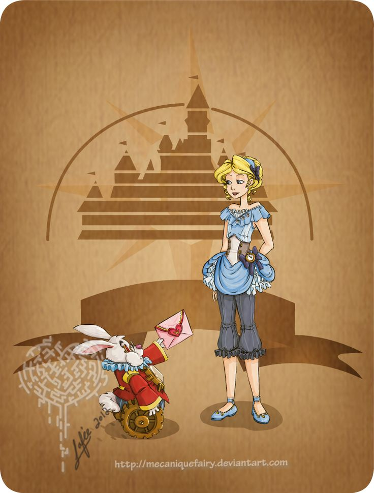 Disney steampunk: Alice: Steampunk Disney, Tinker Belle, Disney Princesses, Steampunk Alice, Alice In Wonderland, Disney Steampunk, Steam Punk, Disney Girls, Snow White