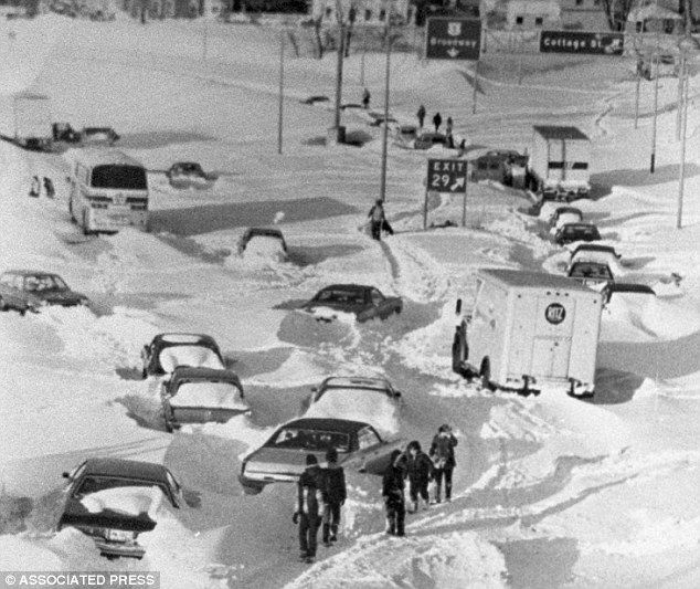 The historic Blizzard of '78, which dumped nearly 30 inches of the white stuff in places like Pawtucket, Rhode Island