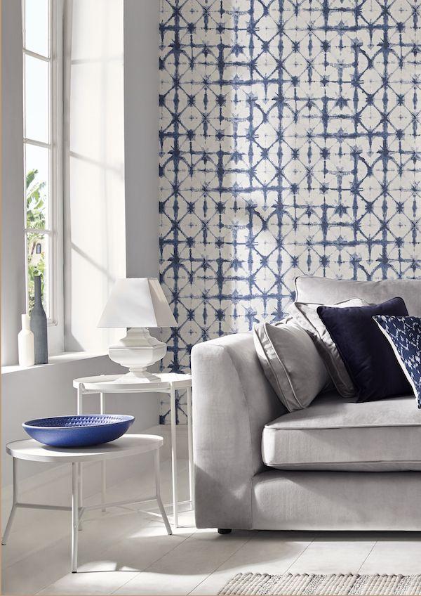 Behang Indigo Blue graham en brown #interieur #behang #interieurinspiratie