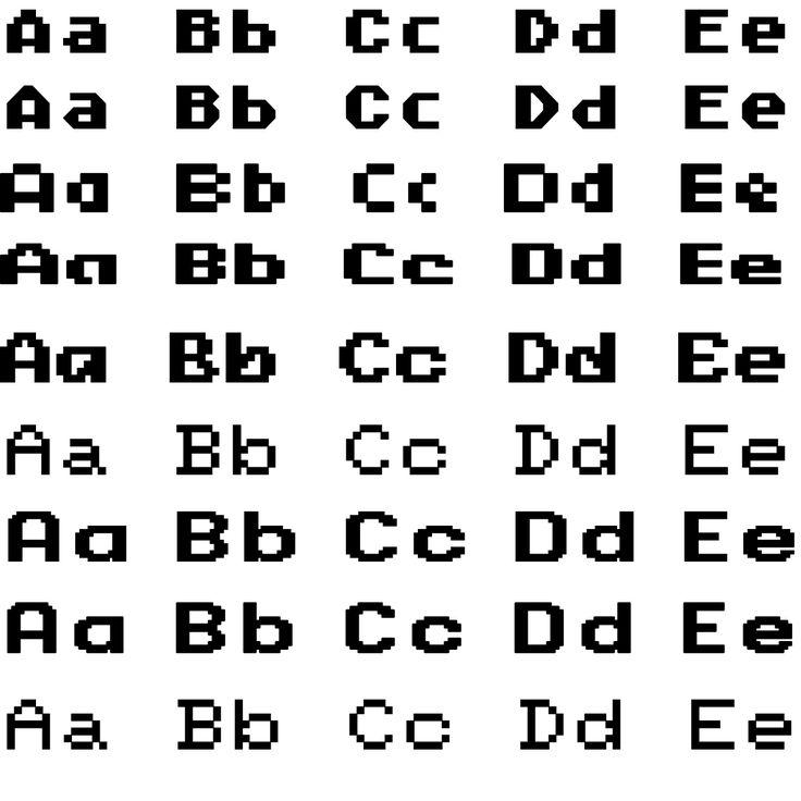 Шрифты 8 бит, латиница — Различные PSD, PNG файлы для фотошопа