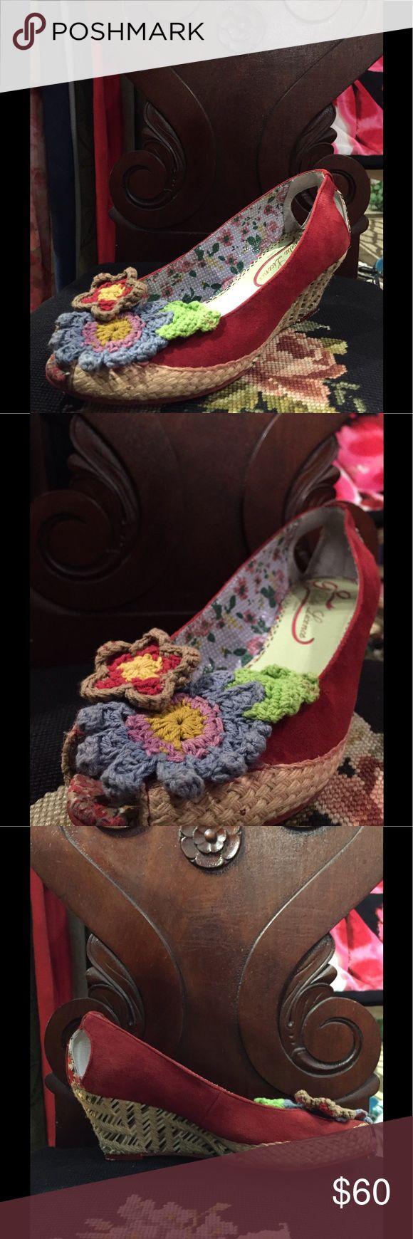 Poetic License Ladies Heels Slightly worn, Poetic Licence London Ladies Footwear, call of the wild pattern Poetic License Shoes Sandals