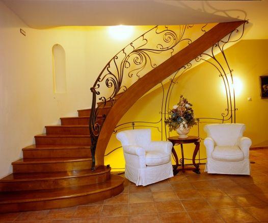Wrought iron staircase - Art Nouveau