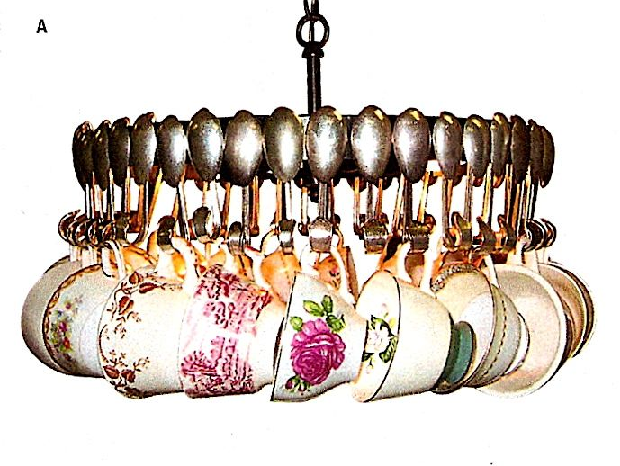 The Napa Style catalogue offers several interesting lighting fixtures. The first is a teacup chandelier for the low price of $999: