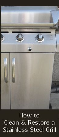 Here are a few things you can do to clean & restore your grills finish and get it looking like new again.