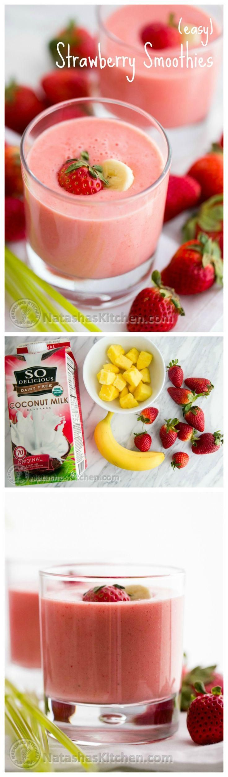 Try this Strawberry Smoothie recipe for some serious feel good energy in the morning!