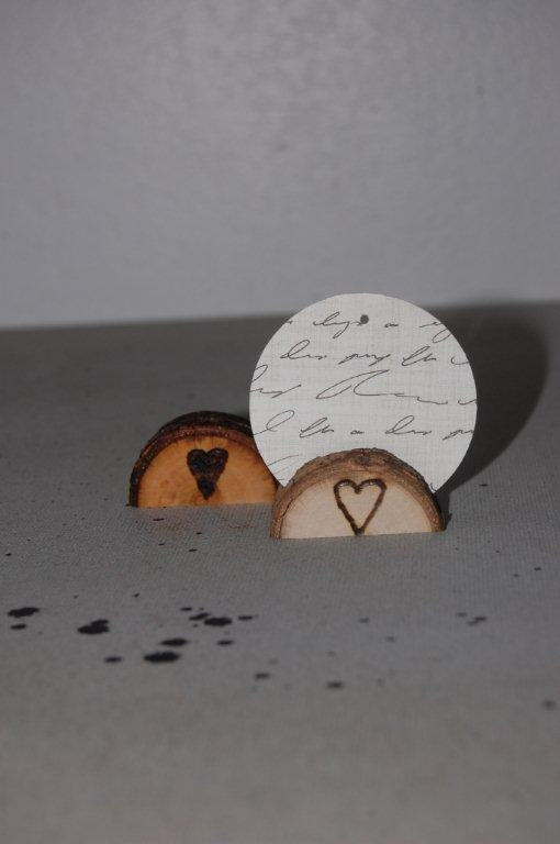 Wood Placecard Holder - Table Numbers - WEDDING Favors - Reclaimed Aspen - Outdoor Mountain Woodland Shabby Chic - Western - Rustic