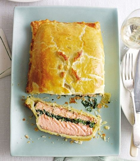 Salmon en Croûte - This straightforward recipe makes light work of the tricky salmon en croûte. Serve this French classic as the centrepiece at special gatherings with family and friends.