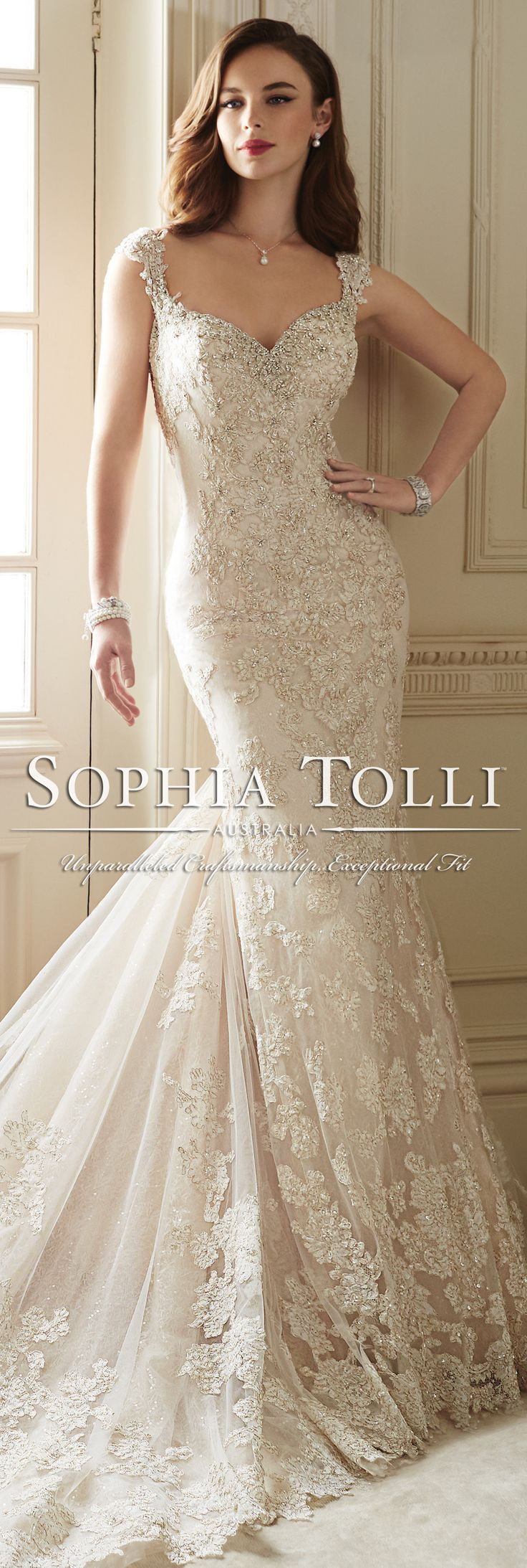 The Sophia Tolli Spring 2016 Wedding Dress Collection - Style No. Y11651 - Sultana #laceweddingdress
