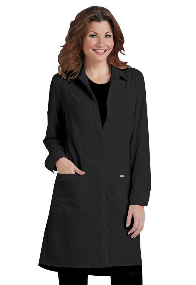 Infinity by Cherokee 40 inch button front lab coat with ...