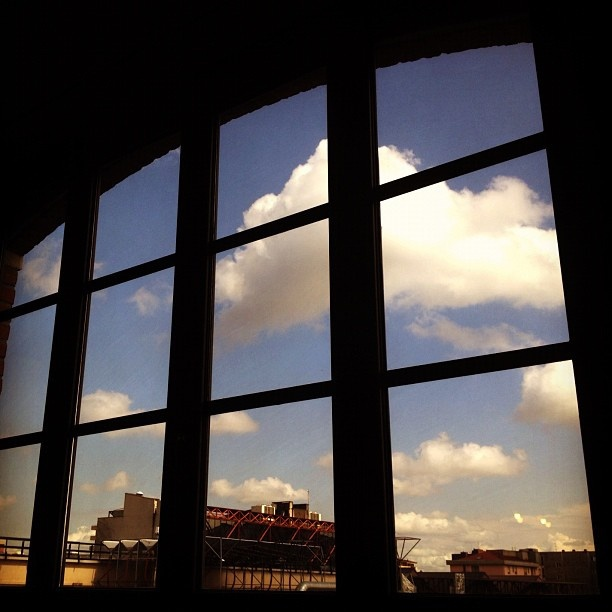 romm with a view: home #window #clouds #view #streetview #urban #inside #outside #loft #home